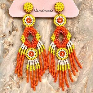 NWT Gorgeous Deepa Gurnani Beaded Chandeliers